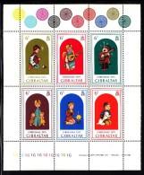 Gibraltar MNH Scott #325 Souvenir Sheet Of 6 Different 6p Christmas - Gibraltar