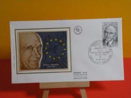 FDC- Robert Schuman - Paris & Scy Chazelles - 10.5.1975 - 1er Jour, - FDC