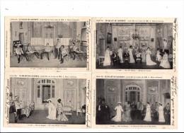 LE THEATRE DES FOLIES DRAMATIQUES - LE BILLET DU LOGEMENT - VAUDEVILLE EN 3 ACTES - LOT DE 4 CPA - Teatro