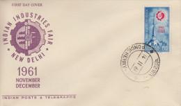 Enveloppe  1er  Jour  INDE   Foire  Internationale  De  NEW  DELHI   1961 - FDC