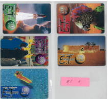 LOTTO 5 PREPAPAGATE USATE DIFFERENTI ET (1 - [2] Sim Cards, Prepaid & Refills