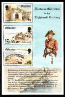 Gibraltar MH Scott #455a Souvenir Sheet Of 3 Fortress Gibraltar In The 1700s - Gibraltar