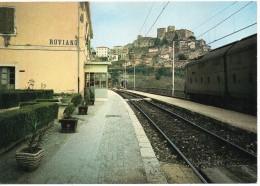 Lazio-roma-roviano Veduta Interno Stazione Ferroviaria Roviano Treno In Transito - Altre Città