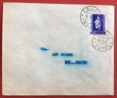 SAVONAROLA L. 25 ISOLATO SU BUSTA DA AGLIE' A SAN MARINO IN DATA 16/10/52 - 6. 1946-.. Republic