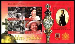 Gibraltar MNH Scott #900a Souvenir Sheet Of 5 Queen Elizabeth II's Golden Jubilee - Gibraltar