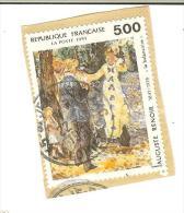 France Y&T Oblitéré N° 2962  1991  - Renoir : La Balançoire - Cachet Rond - Frankreich