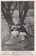 Couple Et Bicyclette Vélo CPA 1912 - Ciclismo