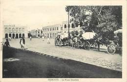 Pays Divers- F617- Djibouti - La Place Menelick  - Carte Bon Etat - - Djibouti