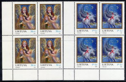 LITHUANIA 1996 Christmas Blocks Of 4  MNH / ** . Michel 625-26 - Litauen