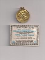 1977 RUBENS -MEDAILLE UNESCO -GOUD-OR - 7,5GR. MET CERTIFICAAT