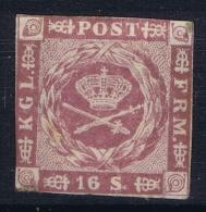 Denmark: Mi Nr 6 MH/*   Some Gum Removed From The Edges - 1851-63 (Frederik VII)