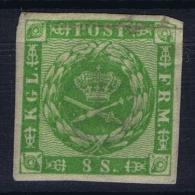 Denmark: Mi Nr 8 MH/*   Some Damage - 1851-63 (Frederik VII)