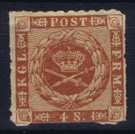 Denmark: Mi Nr 9 MH/*   1863  Light Fold At Richt  Corner - 1851-63 (Frederik VII)