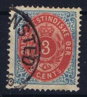 Denmark: Danish West Indies  Mi Nr 6 II  Used  Rahmen Kopfstehend.