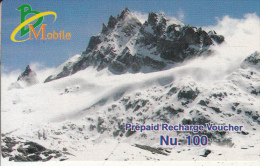 BHUTAN - Mount, Bhutan Mobile Prepaid Card Nu.100, Used - Bhutan