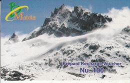 BHUTAN - Mount, Bhutan Mobile Prepaid Card Nu.100, Used
