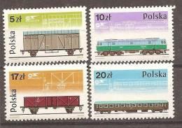 Trains Locomotives ** MNH Pologne Poland Polen 2805/08 - Trains