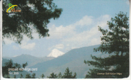 BHUTAN - Landscape, Bhutan Mobile Prepaid Card Nu.200, Used - Bhutan