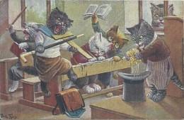 CARTES FANTAISIES TOP - Arthur Thiele - Animaux Habillés - La Révolte Des Chats - Animali Abbigliati