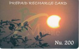 BHUTAN - Bhutan Mobile Prepaid Card Nu.200, Used