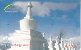 BHUTAN - Bhutan Mobile Prepaid Card Nu.100, Used