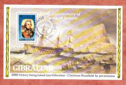 Mi Block 7, Death Of Nelson, Erstausgabestempel 1980 (27880) - Gibraltar