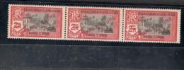 French India1941:yvert 206mnh** Strip Of 3 Mnh** - India (1892-1954)