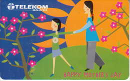 """MALAYSIA(chip) - Happy Mother""""s Day, Mum""""s The Word, Telecom Malaysia Telecard RM10, Used - Malaysia"""