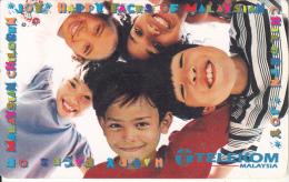 MALAYSIA(chip) - Happy Faces Of Malaysian Children, Telecom Malaysia Telecard RM20, Used - Malaysia