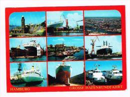 Hamburg Grosse Hafenrundfahrt Hafen Blohm Voss Dock Orient Anakmon Vogelschau - Germany