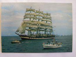 Russian Sailing Vessels Kruzensztein / Polish Postcard - Segelboote