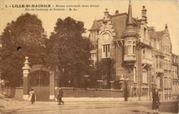 59 LILLE - SAINT MAURICE - MAISON MATERNELLE JULIA BECOUR - RUE DU FAUBOURG DE ROUBAIX - - Lille