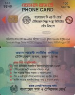 BANGLADESH(chip) - First Chip Issue 100 Units(matt Surface), Generic Card(reverse C), Used
