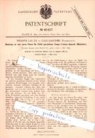 Original Patent  - Philippe Lauth In Carcassonne , Frankreich , 1888 , Etagen-Trocken-Apparat !!! - Carcassonne