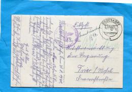 Marcophilie-ALLEMAGNE-guerre 39-45-carte FELDPOST Cad  20-8 1940 Biedenkopf +censure - Deutschland