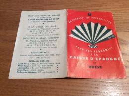"""Calendrier 1970 """"CAISSE D´ÉPARGNE DE BREST"""" (12x16cm) - Petit Format : 1961-70"""
