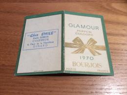 """Calendrier 1970 """"GLAMOUR PARFUM COLOGNE - BOURJOIS"""" (6x9cm) - Petit Format : 1961-70"""