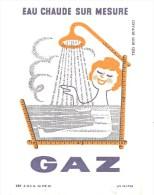 Buvard. GAZ Eau Chaude Sur Mesure - Electricité & Gaz