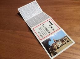 """Calendrier 1969 (4 Volets) """"TAXI PMU LOUBOUTIN BREST/ Village De Monpazier (24) Photo Théojac, Signalisation"""" (9,5x26cm) - Petit Format : 1961-70"""
