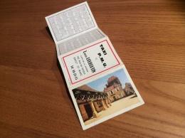 """Calendrier 1969 (4 Volets) """"TAXI PMU LOUBOUTIN BREST/ Domme (24) Photo Théojac, Signalisation"""" (9,5x26cm) - Petit Format : 1961-70"""