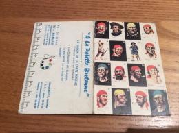"""Calendrier 1966 """"A La Palette Bretonne SAINT-MALO (35) (corsaires, Pirates)"""" (10x13,2cm) - Petit Format : 1961-70"""