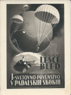 Sport Announcements RE000027 - Slovenija (Slovenia) Bled (Veldes) Lesce 1st World Parachuting Champinship 1951 - Other