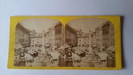 SUISSE 1863 WILLIAM ENGLAND N°8 GENEVE MARCHE DE LA VIEILLE VILLE ALPINE CLUB /FREE SHIPPING R - Fotos Estereoscópicas
