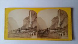 SUISSE 1863 WILLIAM ENGLAND N°103 LAUTERBRUNNEN STAUBBACH ALPINE CLUB /FREE SHIPPING R - Fotos Estereoscópicas