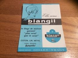 """Calendrier 1963 """"blangil Plus Neuf Que Le Neuf - GILLET-THAON"""" (10,4x13,4cm) - Petit Format : 1961-70"""