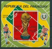Paraguay 1973 Fußball-WM Deutschland Block 206 Postfrisch (C22613) - Paraguay