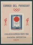 Paraguay 1964 Olympiade Tokio Block 51 Postfrisch (C22599) - Paraguay