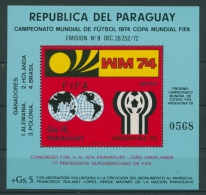 Paraguay 1974 Fußball-WM Deutschland Block 234 Postfrisch (C22622) - Paraguay