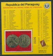 Paraguay 1977 Nobelpreisträger Literatur Block 306 Postfrisch (C22640) - Paraguay