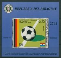 Paraguay 1974 Fußball-WM Deutschland Block 225 Postfrisch (C22620) - Paraguay